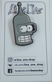 Деревянный значок Бендер Футурама / Bender Futurama