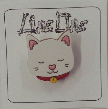 Деревянный значок Кот / Cat