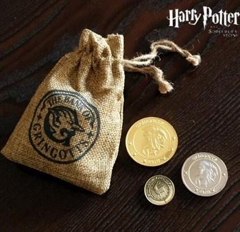 Мешочек монет банка Гринготтс Гарри Поттер / Gringotts Bank Coin Collection Harry Potter