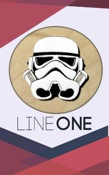 Деревянный значок Штурмовик Звездные войны / Stormtrooper Star Wars