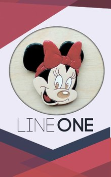 Деревянный значок Минни Маус / Minnie Mouse